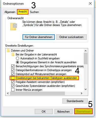 Dateiendung anzeigen Windows 10, 2-2