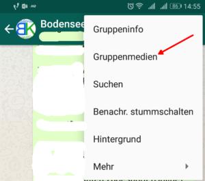 WhatsApp Gruppenmedien