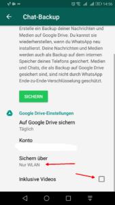 WhatsApp Speichern