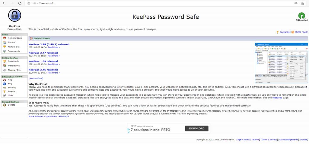 keepass info