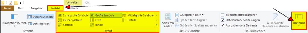 Windows Explorer Ansicht aendern