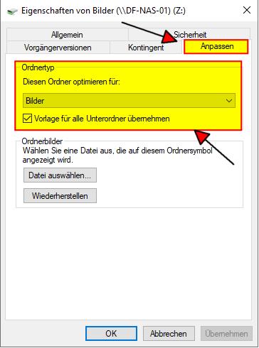 Windows Explorer Ordnertyp aendern